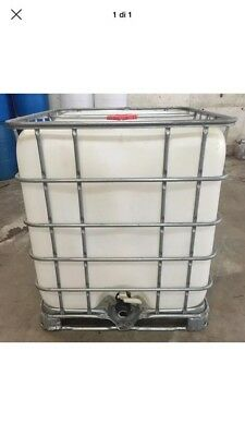 275 Gallon IBC Tote Food Grade Plastic Storage Water Container Poly Tank  for sale  Curtis Bay