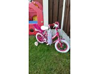 "Girls 12.5 "" molly bike with molly dolly seat can deliver for a small charge"