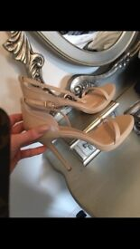 Pretty little thing nude heels brand new size 7
