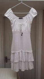 Ladies Summer Dress - White - Size 10