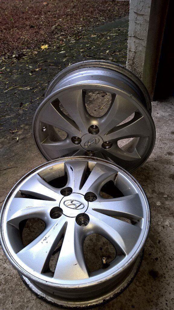 2 x Hyundai i10 Alloy Wheels