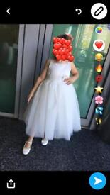 Flower girl dress & shoes