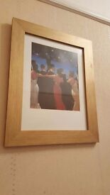 pair of Jack Vettriano pictures in gold frames
