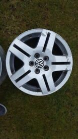 15inch vw alloy wheels 5x120 will fit vw t5 etc average condition 3 good 1 bit scratched