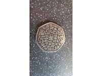 WWF 50p coin 2011 rare