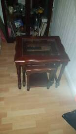 Nest of glass tables exllent condition