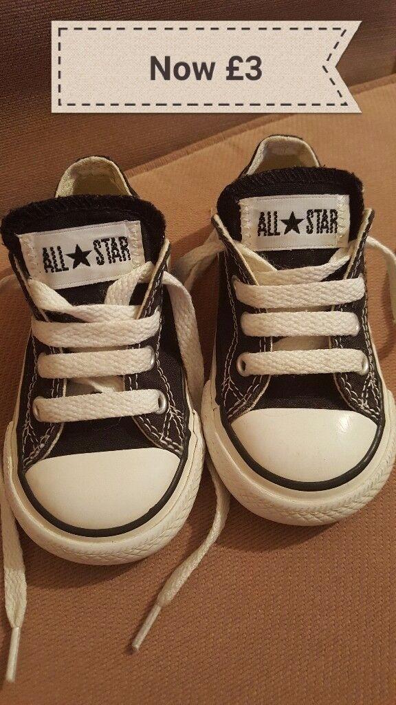 Black Converse Trainsers (Infants) Size 5