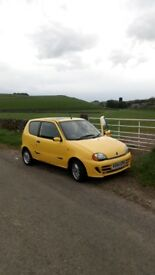 Fiat seicento sporting only 79.000 miles 1 year MOT
