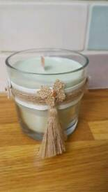 Eco friendly soya wax candle with crackle burning wick - watermelon fragrance