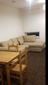 Cream fabric corner sofa