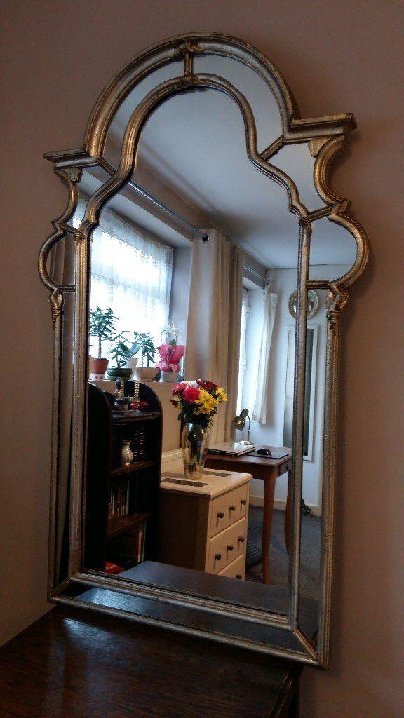 La Barge Wall Mirror Aged Gold Silver Gilt Holland Michigan