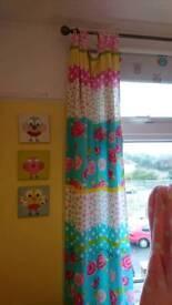 Tab top girls curtains
