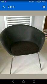 2x Arper Duna Chairs RRP £250each