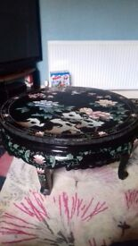 Lovely oriental style hand painted table