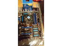 Intel Core i5 4570 4 cores 3.2-3.6ghz with B85-G43 motherboard, cooling and 12 GB of RAM memory