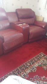 Leather cinema chair