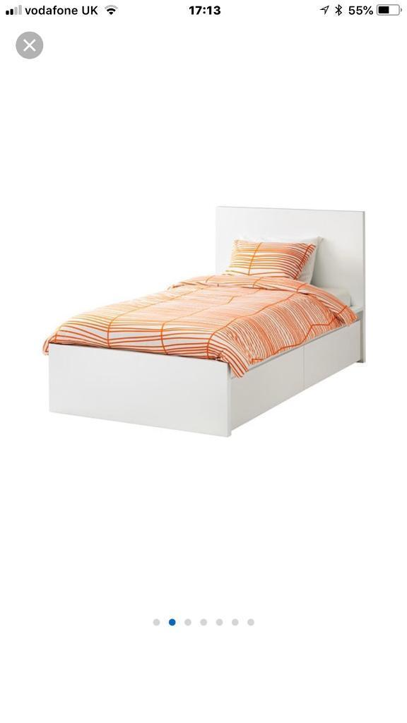 IKEA MALM WHITE SINGLE BED FRAME | in Whitchurch, Bristol | Gumtree