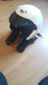 Turn 1 helmet and Hans device