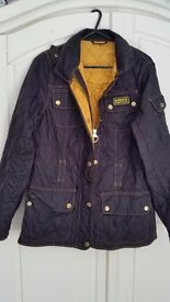 Womens Barbour coat. Black. Size 10