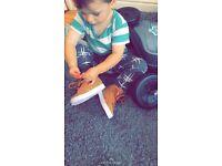 Adidas toddler hightops size 5