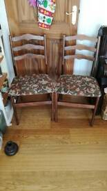 2 Vintage Chairs for sale. Hall or Dining.
