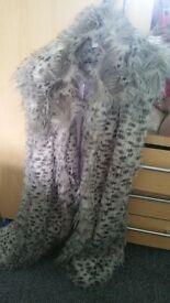 Fur gilet silk lined size 20