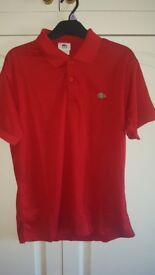 Brand New Lacoste Polo Red Mens Large