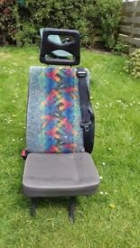 6 Minibus seats 5 with (Unwin type quick release)