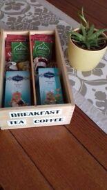 70 teas coffees wooden storage box breakfast gift christmas