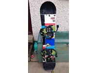 RIDE DHK Kids 134cm Freestyle Snowboard and Bindings