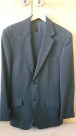 Mens 2 Peice Black Pinstripe Suit