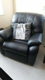 Gplan Black Leather Chair