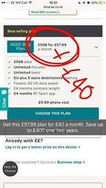 30% off ANY EE phone contract. New or upgrade.