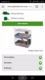 Double teir indoor hutch for guinea pigs or rabbit