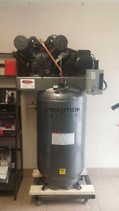 New 7.5hp 230v 1ph cast iron air compressor IN STOCK!