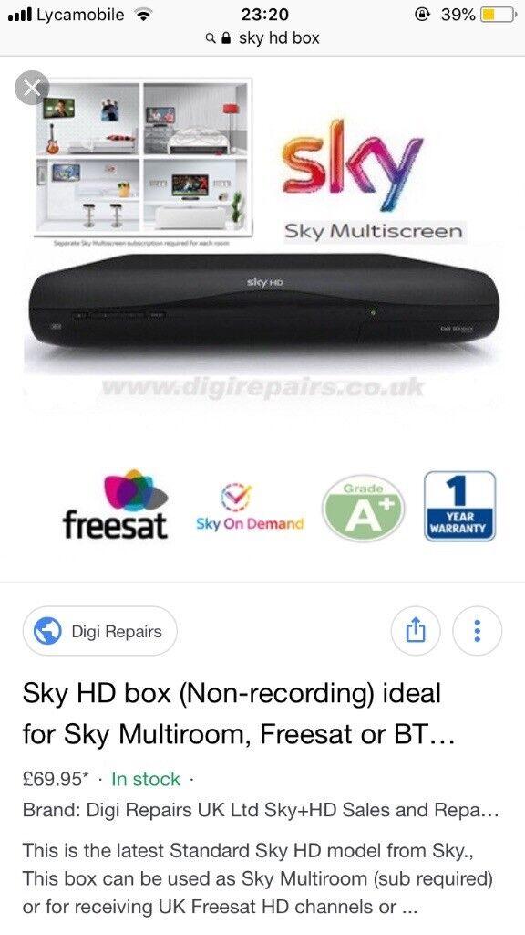 Sensational Brand New In Box Sky Plus Hd Box In East London London Gumtree Wiring Digital Resources Ntnesshebarightsorg