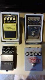 Boss, & Artec Guitar Effects Pedals-£30.00 Each