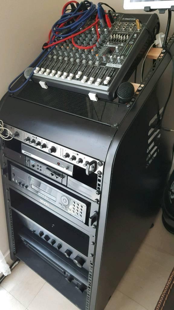 RECORDING STUDIO RACK CASE SHELF ALL METAL