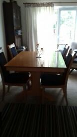 Extendable Dining Room Table and Chairs