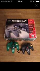Boxed Nintendo 64 (N64) games console