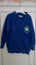 Glyncoed School Cardigan Size 3-4 years.