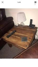 Large Square Rustic Studded Table / Coffee Table
