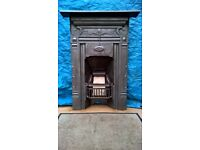 Edwardian Fireplace. Renovated and ready to instal. Complete. 1m x 71cm.