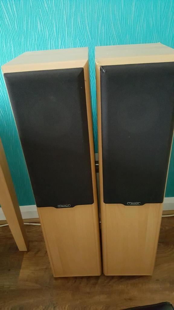 Floor Standing Mission Speakers 702e With Spikes In