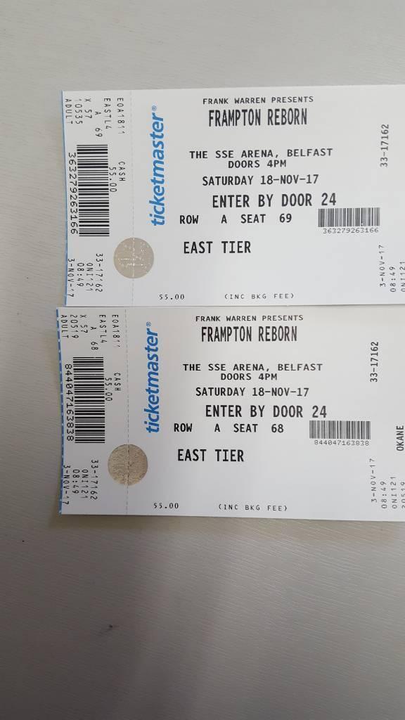 2 Carl Frampton Tickets