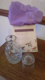 Waterford Crystal carafe and glass
