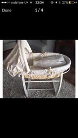 Mamas and papas Moses basket & stand