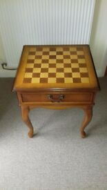 Yew Real Wood Chess/Games Table