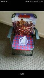 Kids folding chair from 3 to 8 year + a free shape toys