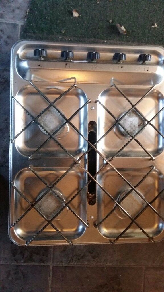 Caravan Or Van Conversion Crammer 4 Ring Stainless Steel Hob With Grill